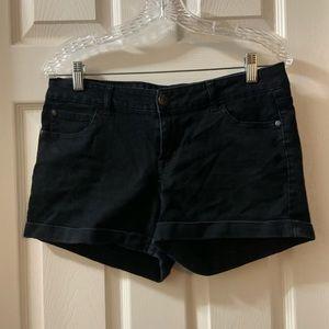 Celebrity Pink Jeans Black Denim Shorts Size 9